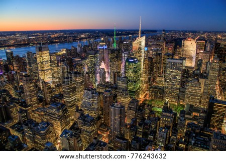 Travel USA, New York. Aerial view of Manhattan, NYC. Manhattan from above. #776243632