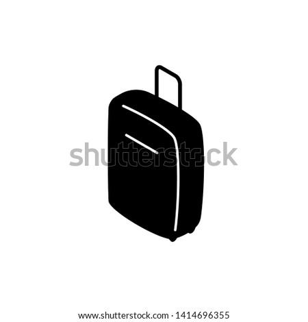 Travel Valise or Suitcase isometric icon. Clipart image isolated on white background
