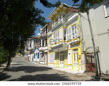 Travel view of Princes Islands featuring Buyukada house street alley. The image location is Istanbul in Turkey Europe, Europe. #1466599739