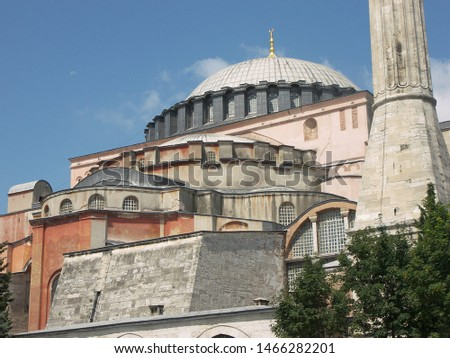 Travel view of Saint Sophie featuring church museum. The image location is Istanbul in Turkey Europe, Europe. #1466282201