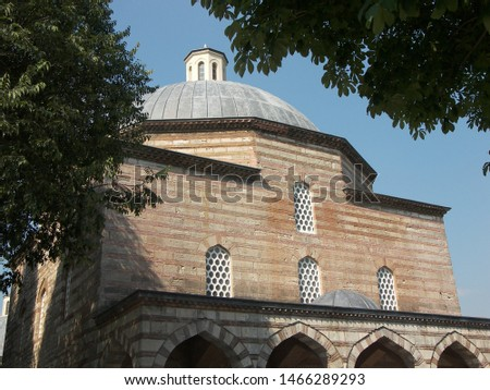 Travel view of Topkapi Palace featuring Saint Irene. The image location is Istanbul in Turkey Europe, Europe. #1466289293