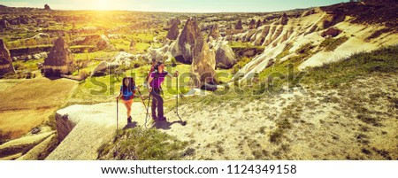 Traveling healthy lifestyle adventure concept summer active vacations hiking outdoor