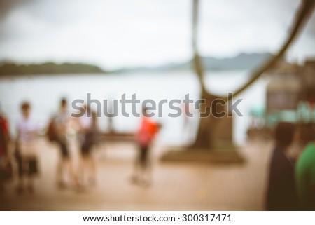 Traveling location blurred for background - Sai Kung of  Hong Kong China