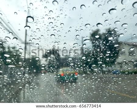 Picnetz Traveling On A Rainy Day Rain Water On Mirror