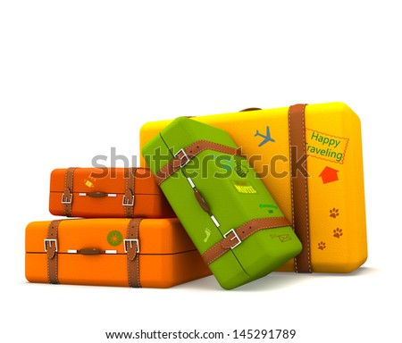 Traveling suitcases
