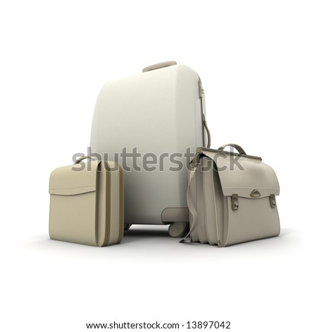 Travelling kit in beige colors