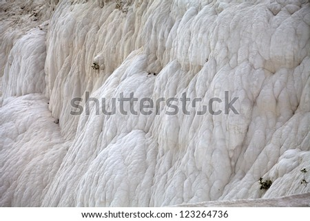 Travertine pools and terraces in Pamukkale Turkey #123264736