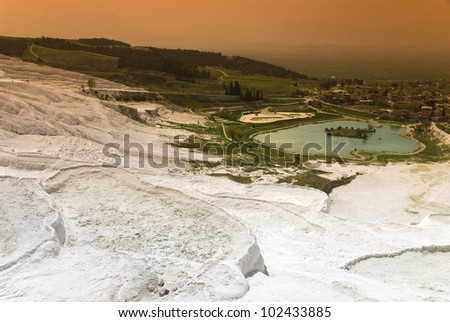Travertine pools and terraces, Pamukkale, Turkey