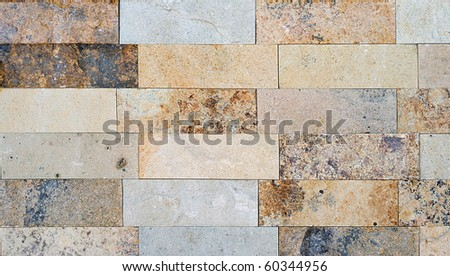 Travertine stone wall background