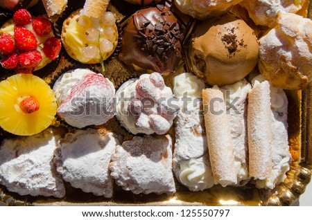 tray of pastries in Palermo, Sicily