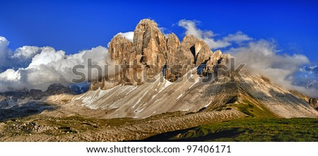 Tre cime di lavaredo - stock photo