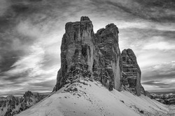 Tre Cime di Lavaredo moutain of Dolomites mountain range of Italy, Europe, Unesco World Heritage Site