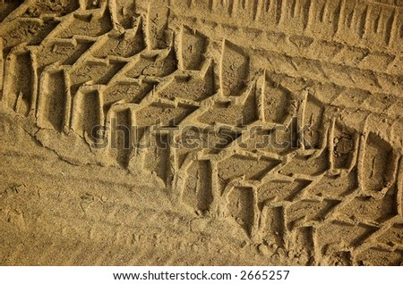 Tread pattern of a truck tire in soft sand