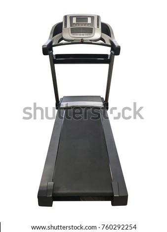 treadmill isolated on white...