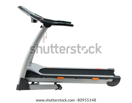 Treadmill the exercise tool isolated on white background
