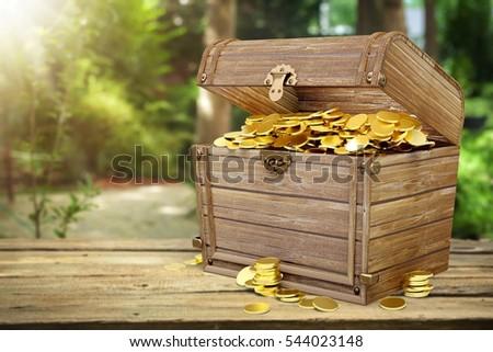 Treasure chest. #544023148