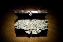 treasure chest full of money