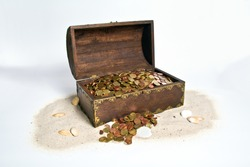treasure chest  full of money in an offshore tax  shelter