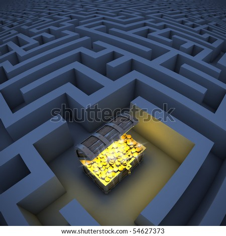 treasure chest in labyrinth
