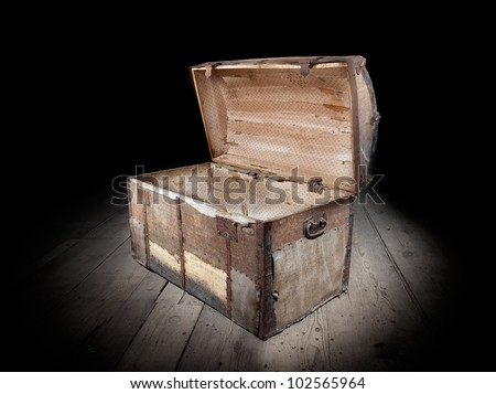 Treasure chest is open and empty.