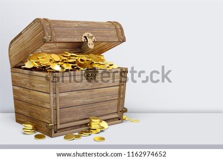 Treasure Chest on desk #1162974652