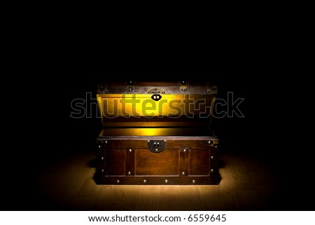 Treasure Chest with glowing gold