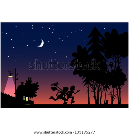 treasure hunt at night