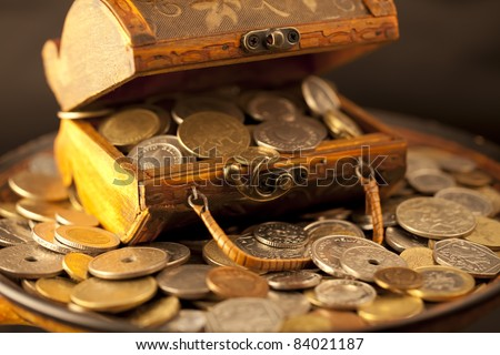 treasure of gold coins #84021187