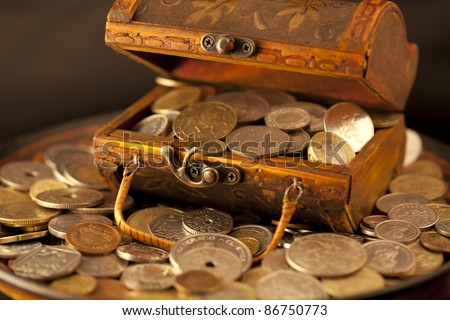 treasure of gold coins