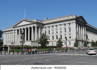 Stock Photo:  The Treasury Department in Washington DC