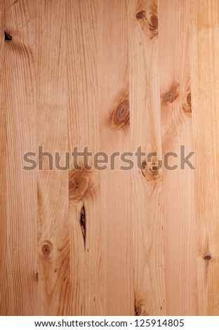 Treated pine boards with knots