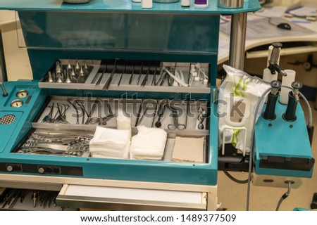 Treatment and surgical instruments of a neck , nose , ears doctor Stock fotó ©