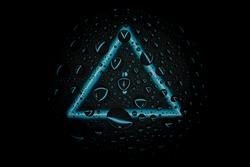 treble clef in triangle neon shape