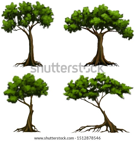 Tree asset for 2D game