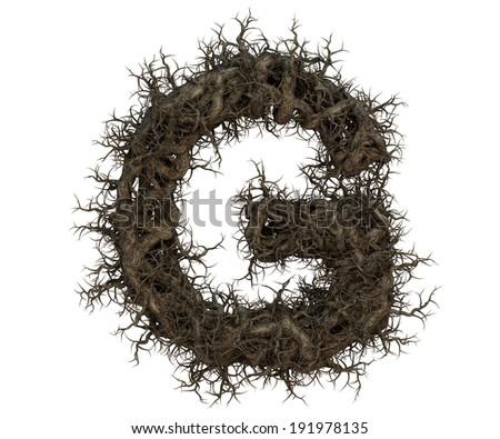 tree branch alphabet  Imagine de stoc ©