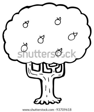 tree cartoon (raster version)