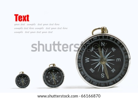 tree compass close-up isolated on white background