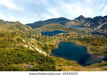 tree lakes high mountain view