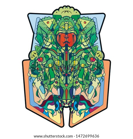 Tree of life. Illustration, symbol.