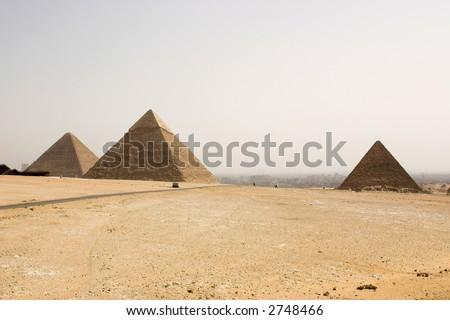 tree pyramids - stock photo