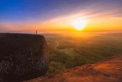 Tree Rock Whale mountain in Bungkan,Thailand