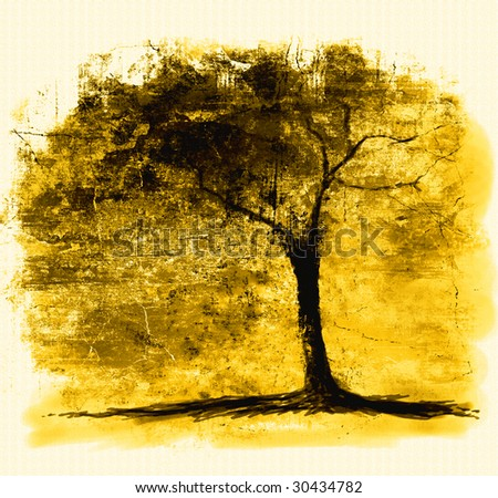 Tree  on Tree Silhouette Art Stock Photo 30434782   Shutterstock