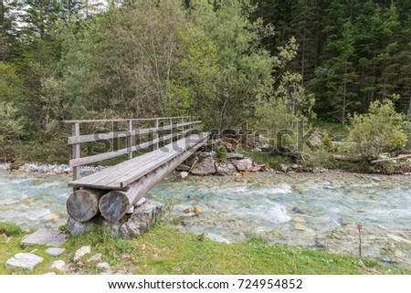 Shutterstock Tree trunk bridge over a Creek in the Twengtal in Lungau, Austria