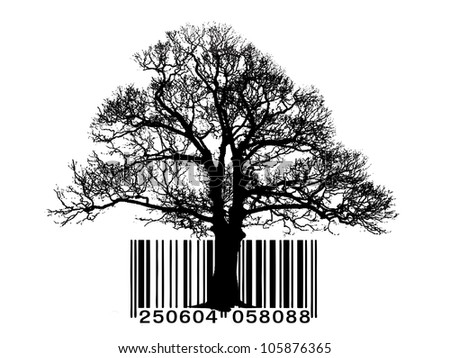 Tree vector barcode