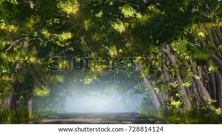 Stock Photo trees painting illustration