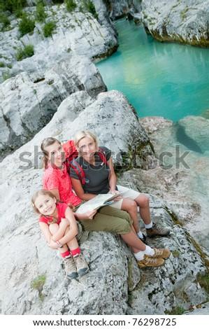 Trekkers - family on mountain trek