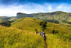 Trekking at Kudremukh, Karnataka, India