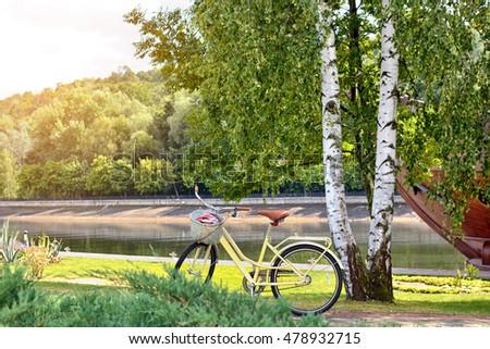 Trekking bicycle - Shutterstock ID 478932715