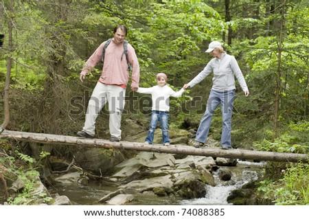 Trekking - family on trek