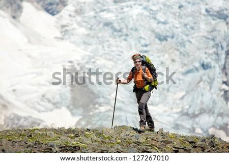 Trekking in Caucasus mountains Georgia, Svaneti region